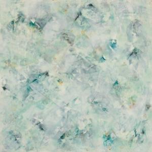 Dreaming Blue - Encaustic On Cradled Wood 16x16x2
